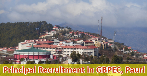 Principal Recruitment in GBPEC Pauri