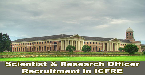 Scientist & Research Officer Recruitment in ICFRE