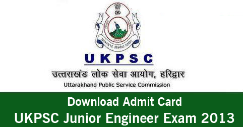 Download UKPSC Junior Engineer Exam Admit Card