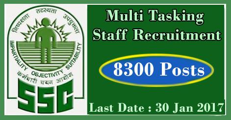 Multi Tasking Staff Recruitment in SSC