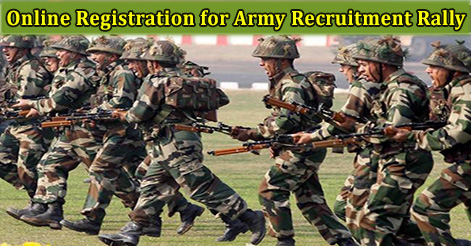 Online Registration for Army Recruitment Rally