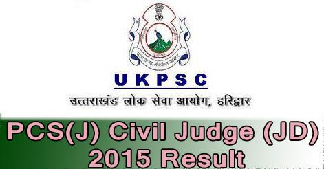 PCS(J) Civil Judge (JD) 2015 Result