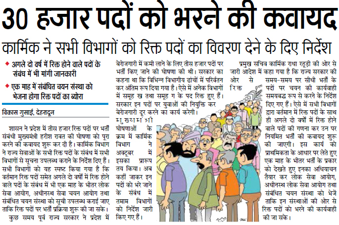 30000 Jobs in Uttarakhand