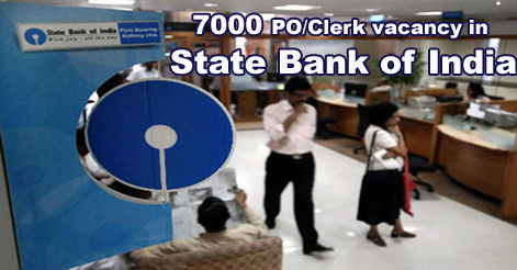 7000 vacancy in State Bank of India