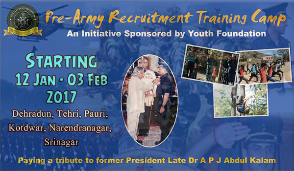 Pre Training for Army Recruitment Rally 2017