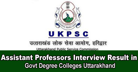 Assistant Professors Interview Result in Govt Degree Colleges Uttarakhand.jpg