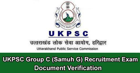 Document Verification Detail for UKPSC Group C (Samuh G) Exam