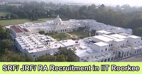 SRF JRF RA Recruitment in IIT Roorkee