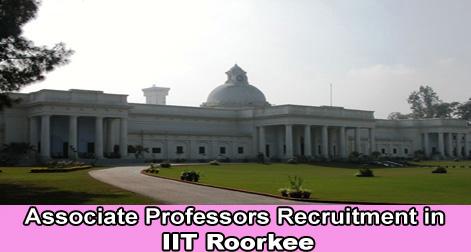 Associate Professors Recruitment in IIT Roorkee