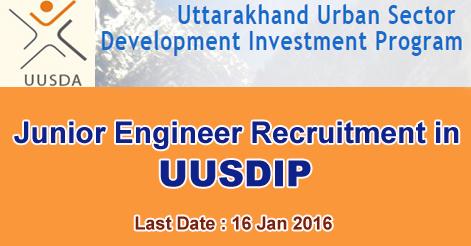 Junior Engineer Recruitment in UUSDIP