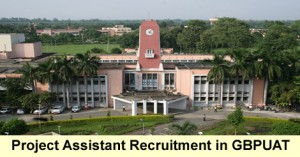 Project Assistant Recruitment in GBPUAT