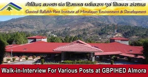 Walk-in-Interview-For-Various-Posts-at-GBPIHED-Almora