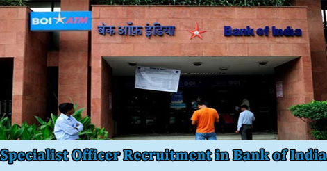 Specialist Officer Recruitment in Bank of India