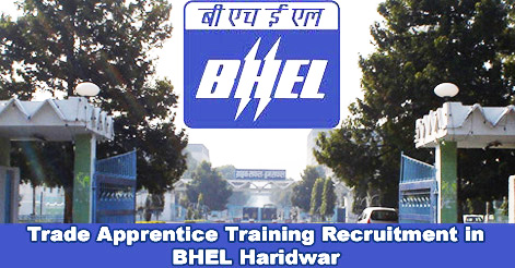 Trade Apprentice Training Recruitment in BHEL Haridwar
