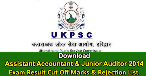 Assistant Accountant & Junior Auditor Exam 2014 Result & Rejection List