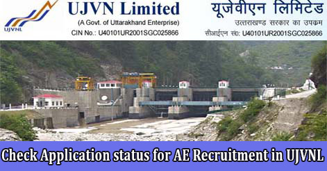 Check Application status for AE Recruitment in UJVNL