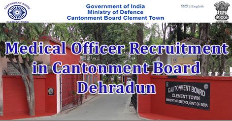 Medical Officer Recruitment in Cantonment Board Dehradun .jpg
