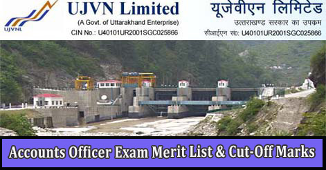 UJVNL Accounts Officer Exam Merit List & Cut-Off Marks