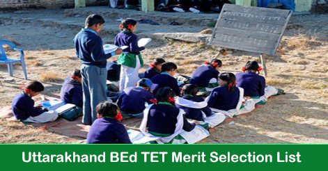 Uttarakhand BEd TET Merit Selection List