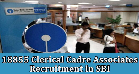 18855 Clerical Cadre Associates Recruitment in SBI