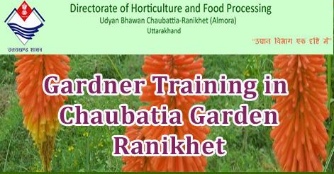 Gardner Training in Chaubatia Garden Ranikhet