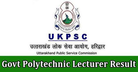 Govt Polytechnic Lecturer Result