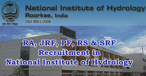 RA, JRF, PF, RS & SRF Recruitment in National Institute of Hydrology