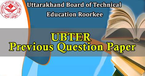 UBTER Previous Question Paper