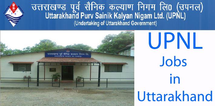 UPNL Govt Jobs in Uttarakhand