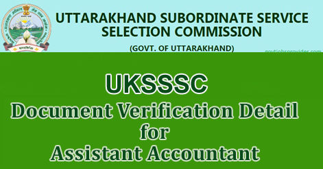Document Verification Detail for Assistant Accountant