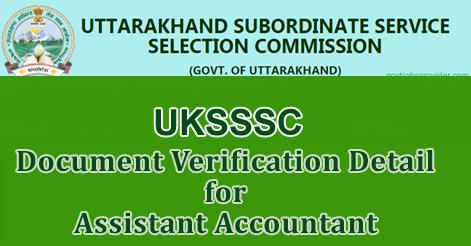 Document Verification Detail for Assistant Accountant