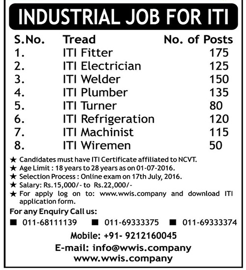 Iti Industrial Job Fair Submit Resume For Industrial Job