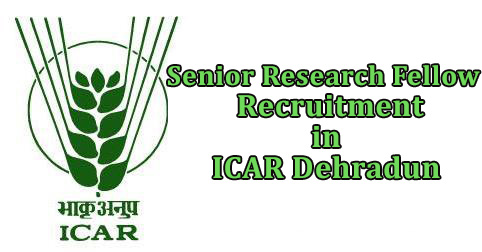 Senior Research Fellow Recruitment in ICAR Dehradun