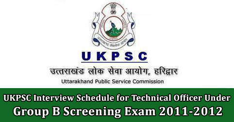 UKPSC Interview Schedule for Technical Officer Under Excise Department