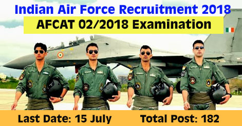 Indian Air Force AFCAT 2018 Notification