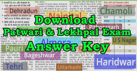 Patwari & Lekhpal Exam Answer Key