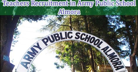 Teachers Recruitment in Army Public School Almora