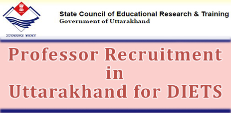 Professor Recruitment in Uttarakhand for DIETS