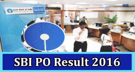 State Bank of India PO Result 2016