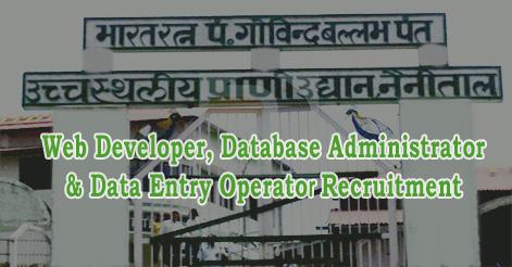 Web Developer, Database Administrator & Data Entry Operator Recruitment in Nainital Zoo