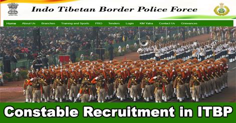 Constable (Animal Transport) Recruitment in ITBP