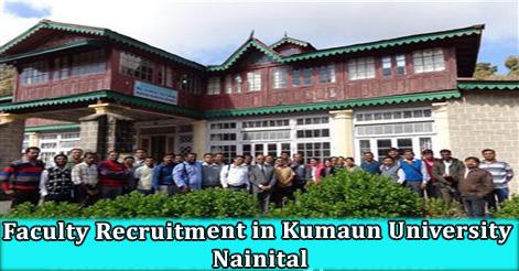 Faculty Recruitment in Kumaun University Nainital
