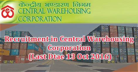 MT, AE, Accountant & Stenographer Recruitment in Central Warehousing Corporation
