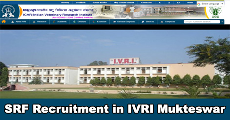 Senior-Research-Fellow-Recruitment-in-IVRI-Mukteswar