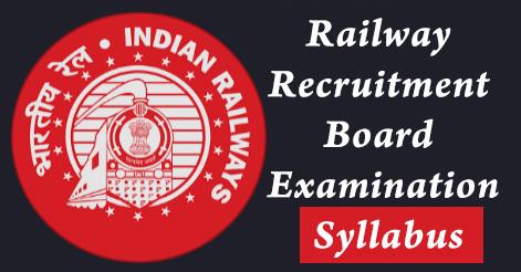 Railway Recruitment Board Examination Syllabus