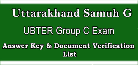 UBTER Group C Exam Answer Key & Document Verification List