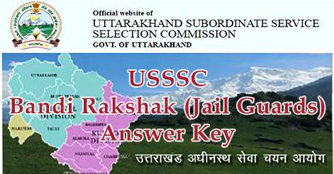 USSSC Bandi Rakshak (Jail Guards) Answer Key