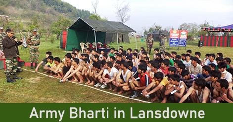 Army Bharti in Lansdowne