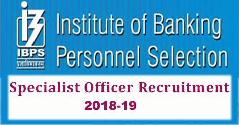 IBPS-Specialist-Officer-Recruitment-2018