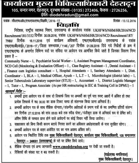 Medical Staff Recruitment in Dehradun